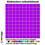 1180 Klebeecken 15mm 17 verschiedene Farben selbstklebend Aufkleber Inventur Kreise Punkte Markierung (Lila)