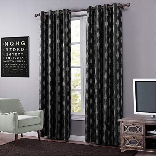 By-gg 2pcs thermische Verdunkelungsvorhänge - kurzes Licht blockierte Vorhang für Hauptdekoration Eyelet Top Küche Wohnzimmer,140X240cm - Datenschutz-boden-bildschirm