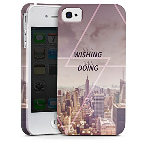 Apple iPhone X Silikon Hülle Case Schutzhülle City Wish Statement Premium Case glänzend
