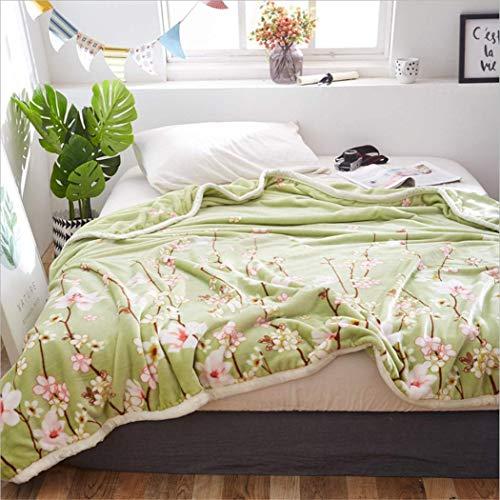sikexia Samtdecke Coral Frühling Und Herbst Bettlaken Decke Schlafsaal Student Warm Sheets Flanell Quilt 180X200Cm J (Coral Kinderzimmer-quilt)