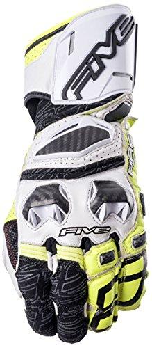 Fünf Advanced Handschuhe RFX Race Erwachsene Handschuhe, Weiß/Flo Gelb, Größe 12