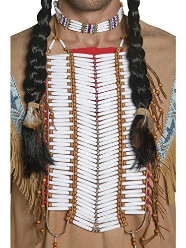 Confettery - Kostüm Accessoires Zubehör Herren Western Indianer Brustplatte, perfekt für Karneval, Fasching und Fastnacht, ()