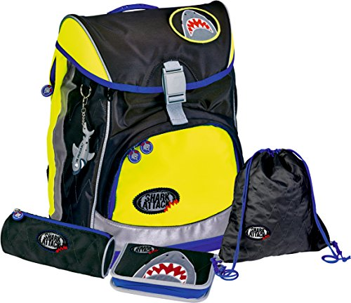 die-spiegelburg-set-de-4-pieces-flex-style-cartable-fun-fluor-shark-attack-shark-attack