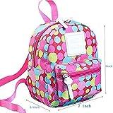 Poliking Unisexe Enfant garçons filles anti-perte Sac à dos pour 2–8ans enfants Petits sacs Maternelle Schoolbag rose Rose à pois S