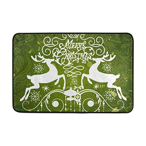 GDESFR Felpudo Carpet Reindeer and Snowflake Merry