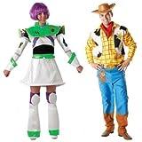 Fancy Me - Hombre Mujer par de Disney Woody y Buzz Lightyear Toy Story decoraciones de ropa