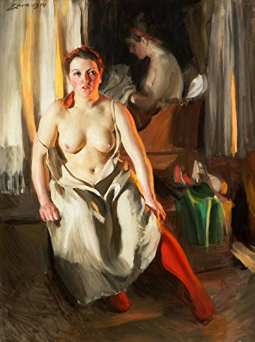 Das Museum Outlet–Anders Zorn–Steckrute–strumpa–Poster (mittel)