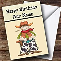 Western Cowboy Personalised Birthday Card