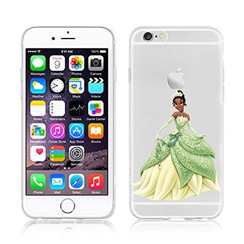 NEW Disney PRINCESSES Transparent TPU Soft case for Apple Iphone 7 TIANA