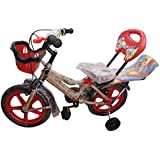 Global Bikes Spider 14T (Red) Kids Bicycle for 2 to 5 Years Fully Adjustable with Back Seat and Back Support for Boys and Girls (14T,Red)