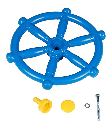 Blue Set - Toy Ships Steering Wheel, Telescope & Telephone - Playhouse, Den, Climbing Frame Accessory