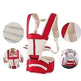Babytrage,Verstellbar Multi-station Taille hocker Schultern Volle jahreszeiten Atmungsaktive Babytrage rücken Baby und kindertrage-B