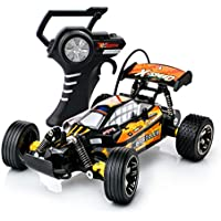 Price comparsion for RC Remote Control Racing Car Buggy Truggy with Speed Grip Tyres, Fastest 15kmh Turbo Speed Radio Controlled Toy Cars for Boys Girls for Indoor Outdoor Play, Perfect Gift 27/49Mhz (Colour May Vary)