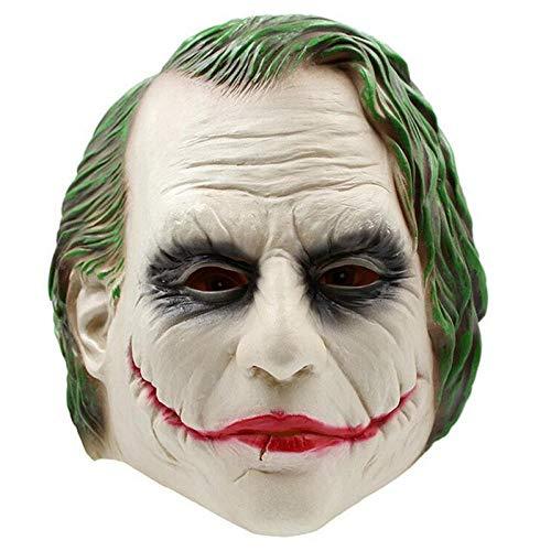 POTUMO Joker Mask Film Batman The Dark Knight Clown Kostüm Cosplay Film Adult Party Maskerade Gummi Latex Masken für Halloween (Dark Joker Kostüm)
