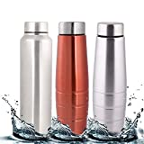 #9: Zafos Stainless Steel Water Bottle -Ideal to store water & other beverages for Fridge, Gym, Sports,office & School ,1000ml each ,3pc.