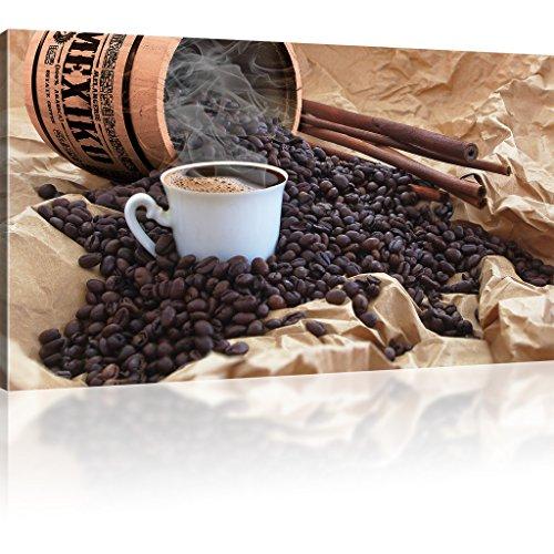 Bilder Kaffee Wandbild Deko für Cafeteria, Restaurant, Küche Kaffeebohnen Leinwandbild