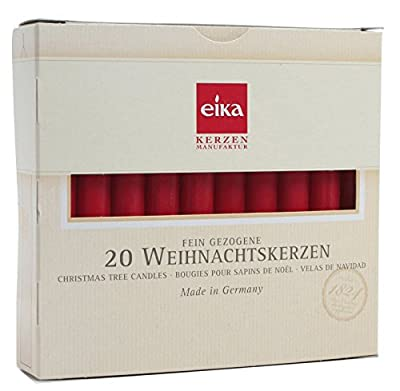 Eika 10243505 Cotton durchgefärbt, 20 Candles 10.5 x 1.25 cm red from Eika