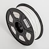 Techie PLA Filament 1KG Roll (1.75mm Diameter) for 3D Printers(White)