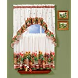 Achim Home Furnishings Country Garden Tier and Swag Set, 57-Inch by 36-Inch, Multi by Achim Home Furnishings