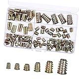 Lvcky - Kit de 100 Piezas M4/M5/M6/M8/M10 de aleación de Zinc para Muebles hexagonales con Inserciones de Tornillo roscado, Tuercas de inserción, Surtido de Herramientas para Muebles de Madera