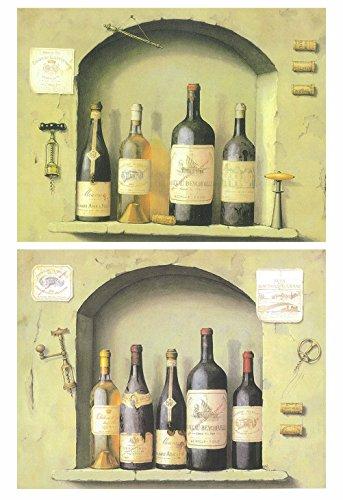 Producto económico para amantes del arte y del buen vino compuesto por un set de dos pequeños cuadros decorativos. Hablamos de láminas de impresión digital sobre paneles de fibra de madera ecológica. Cada cuadro mide 19x25 cm y tiene 4 mm de espesor....