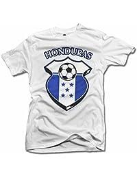 Honduras Shield Blanco Futbol Camiseta Hombres de la T (6.1oz)