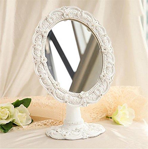 G&M Espejo Maquillaje creativo de vestir Pastoral Rose Resina banco Espejo princesa...