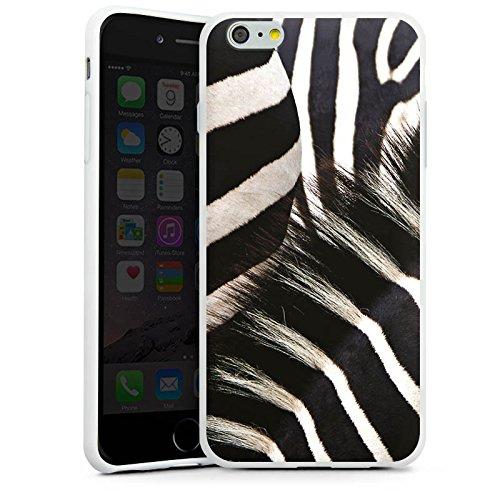 Apple iPhone 6s Tasche Hülle Flip Case Zebra dschungel Animal Print Silikon Case weiß