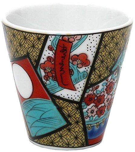 Kutani Keramik Ochoco (Japanische Kleinen Tasse Für Trinken Sake) Blume  Karuta Kso 05 Aus Japan
