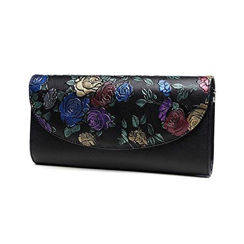 Sacchetto di mano, sacchetto di mano delle signore, sacchetto a mano, fascia di grande capacità di cuoio di tendenza della moda, pacchetto di cena di banchetto ( Colore : Blu ) Gold rose