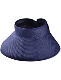 Meta-U Foldable Roll-up Wide Braid Brim Sun Visor Hat With Bow For Adult