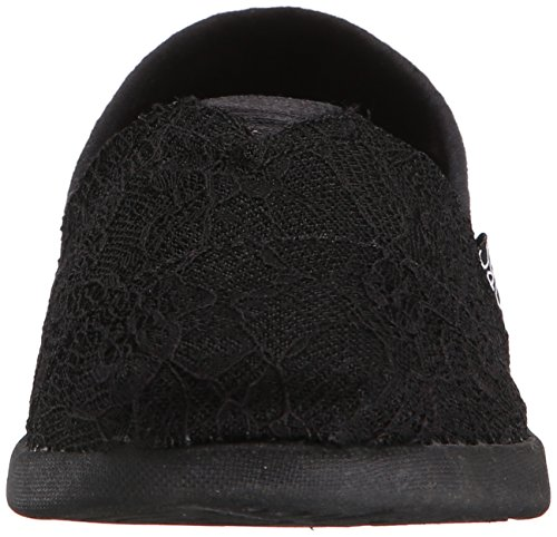 Bobs De Skechers Bobs mondiale Slip-on Flat Black Lace