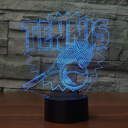 Tennis-küken (WangZJ 3d Visual Illusion Lampe/Weihnachtsgeschenk / 7 Farben Led Nachtlicht/Weihnachtsdekor/usb Powered/Tennis)