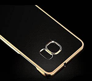 Amol Bazar electroplated soft transparent exelence back cover with golden lining for samsung note 3