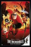 Close Up The Incredibles Poster Expect The Incredible (66x96,5 cm) gerahmt in: Rahmen schwarz