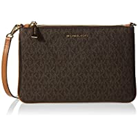 Michael Kors Adele Logo Crossbody Bag- Brown