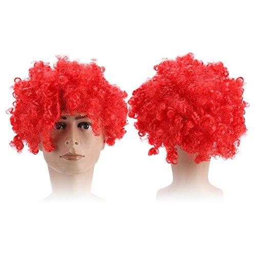 8 Farben Cosplay Perücke, Explosion Perücke, Hippie Kostüm Perücke, Halloween Party Perücke, Männer und Frauen sind für das Tragen geeignet(8#) (Hippie-halloween-kostüm)