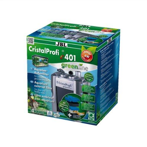 JBL 60200 Außenfilter  für Aquarien von 40 - 120 Litern, CristalProfi e 401 greenline (EU Stecker)
