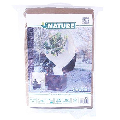 Nature housse de protection d'hivernage pour plantes toison beige 2x5 m 6030094