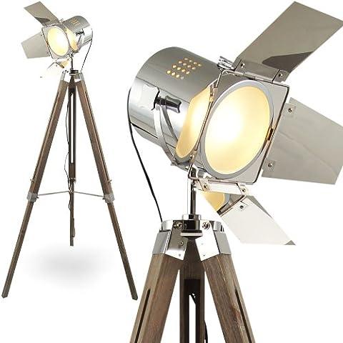 MOJO® Stehleuchte Tripod Lampe Dreifuss Urban Design höhenverstellbar