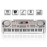 JINRUCHE 61 touches Portable avec Haut-Parleurs Intégrés et Microphone...
