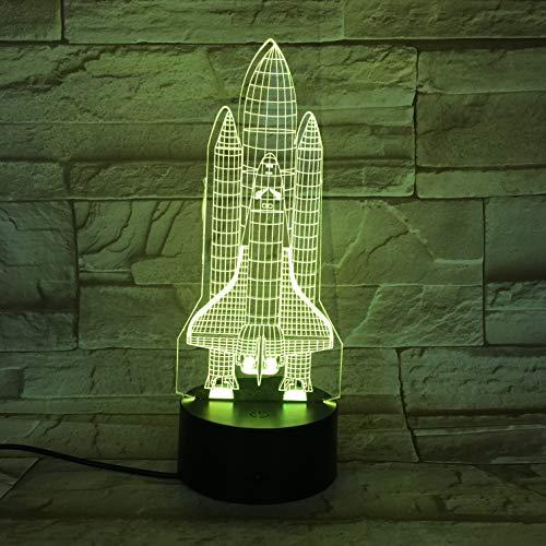 LIkaxyd Apollo Plan Space Shuttle Columbia 3D Lichter Nachtlichter Bunt Mit Holiday Reward Remote Led Nachtlicht Hologramm