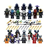BrickDonCustoms Ninja Figuren Set - 24x Custom Ninja Heroes- mit Waffen fits Lego® Ninjago®