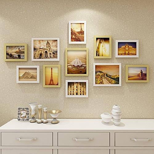 Die Bilder im Wohnzimmer an der Wand Dekoration Wandrahmen kreative Wand Foto wand Kombination.11.BilderrahmenDassDer Name des HerzenDie ursprünglichen weißen Kasten (Holz Name Keychain)