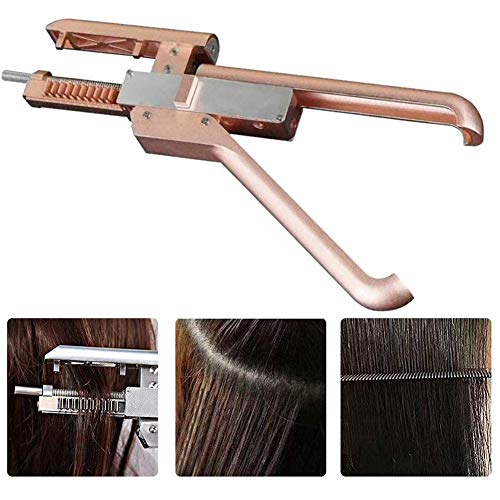 YWJH Hair Extension Tools, Haar Erweiterungen Maschine, Haar Verbinder mit Haarverlängerung Zange Keine Spur Schnell Haar Anschluss Hair Extension Tools Salon -