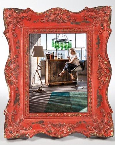 KARE Bilderrahmen Barock Shabby Chic Square, in 4 Farben zur Auswahl, für Fotos 13x18cm, Maße: ca....