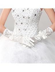 DELLT- Gants de mariée à coutures longues en dentelle