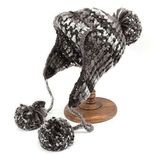 Nosterappou Chapeau à Tricoter, Mode Doux Mignon Coupe-Vent Cache-Oreilles Chauds Chapeau Hiver Chaud Bonnet tricoté Cap Nord-est (Couleur : E)