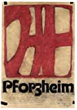 Horst Janssen Pforzheim Poster Plakat Kunstdruck
