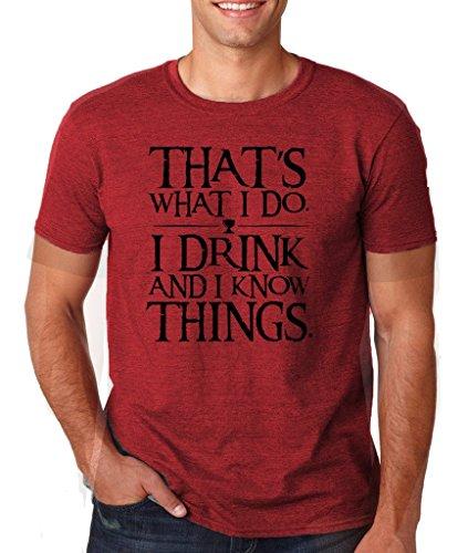 Daataadirect Herren T-Shirt Small Heather Cardinal